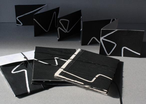 wandering line books ( negative print)